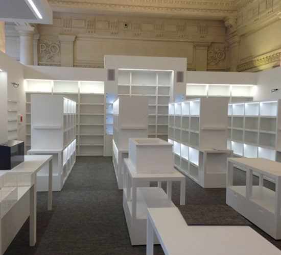 mobilier – Corian Glacier White – Musée d'Orsay Paris – BF PRO