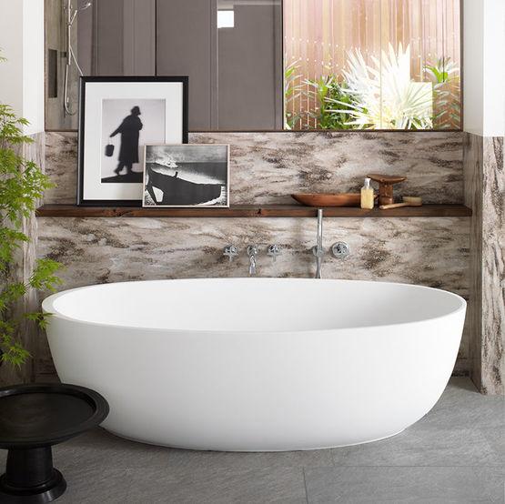 baignoire ovale autoportante en corian corian delight freestanding bathtub 003321948