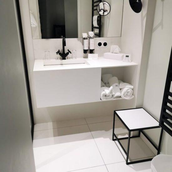 Plan vasque Hotel - Corian - BF PRO