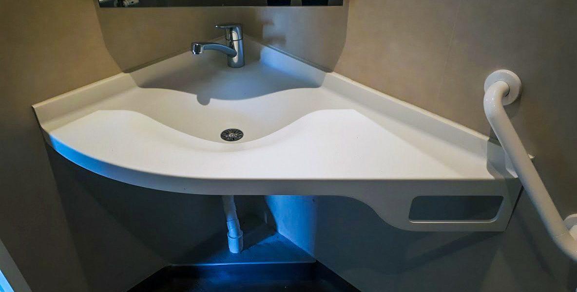 Plan vasque PMR - BF PRO - Corian